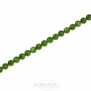 Russische Jade Kugel glanz 6 – 8 mm, 1 Strang