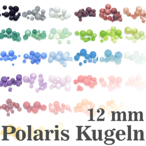 Perles Polaris Boules Polaris 12 mm choix de couleurs, 1 pièce