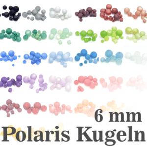 Perline Polaris 6 mm selezione colore, 1 pezzo