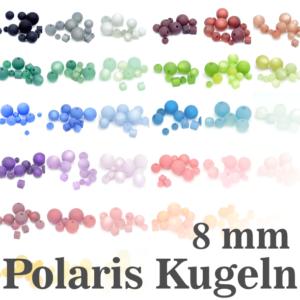 Perline Polaris 8 mm selezione colore, 1 pezzo