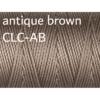 C-Lon Nylongarn 0,5mm | 77 Meter | 1 Rolle (0,05€/m) - antique brown