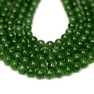 Russian jade plain rounds 8 mm, 1 strand