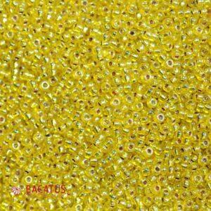 Miyuki Rocailles 11-1006 silverlined yellow AB 9.9g