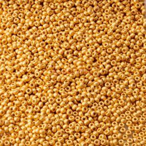 Miyuki Rocailles 11-191F matte 24kt gold plated 5g