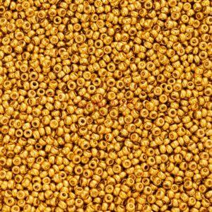 Miyuki Rocailles 11-1052 galvanized gold 9.9g