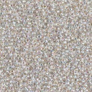 Miyuki Rocailles 15-1001 cristal argenté AB 5g