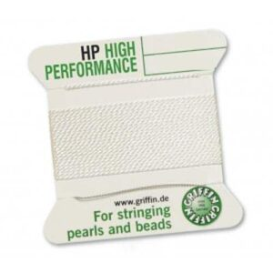 Pearl silk high performance white 1 needle card 2m (€ 1.00 / m)