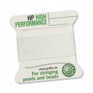 Perlseide High Performance weiß 1 Nadel Kärtchen 2m (1,00€/m)