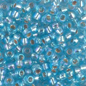 Miyuki Rocailles 6-1018 argenté aqua AB 9.9g