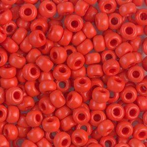 Miyuki Rocailles 6-407 opaque vermilion red 9,9g