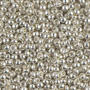 Miyuki Rocailles 8-1051 galvanized silver 9.9g