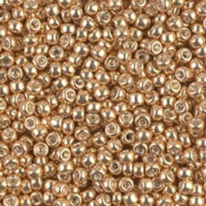 Miyuki Rocailles 8-1052 galvanized gold 9.9g