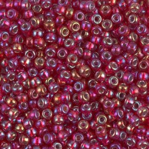 Miyuki Rocailles 8-11R silverlined ruby AB 9,9g