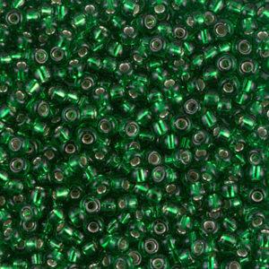 Miyuki Rocailles 8-16 silverlined green 9.9g