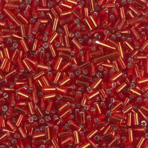 Miyuki Stiftperlen BGL1-010 silverlined flame red 5g