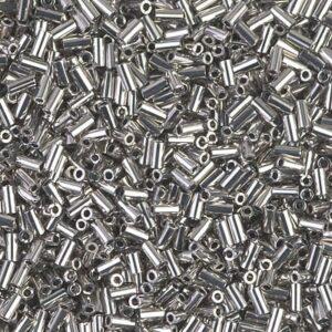 Miyuki bugle beads beads BGL1-194 palladium plated 5g