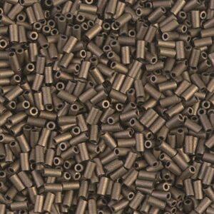 Miyuki bugle beads BGL1-2006 matt metallic dark bronze 5g