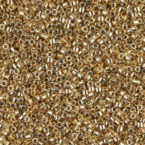 Delica Beads von Miyuki DB0034 24kt gold light plated 5g
