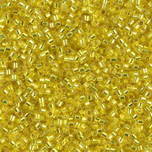 Delica Beads von Miyuki DB0145 silverlined yellow 5g