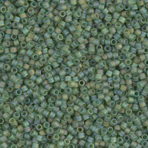 Delica Beads von Miyuki DB1282 matte transparent olive AB 5g