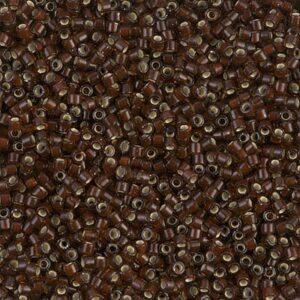 Delica Beads von Miyuki DB1684 silverlined glazed dark rootbeer 5g