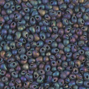 Drop Beads von Miyuki DP28-401FR matte black AB 5g