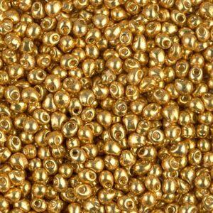 Drop Beads von Miyuki DP28-4202 duracoat galvanized gold 5g