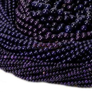Sfera di magnesite viola brillante 4 – 10 mm, 1 capo