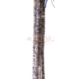 A-Grade Labradorit Rondelle facettiert ca.4x6mm, 1 Strang