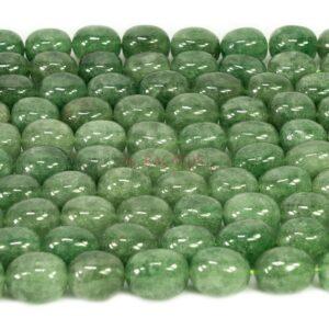 Pépites de quartz rubis vert env.14x18mm, 1 fil