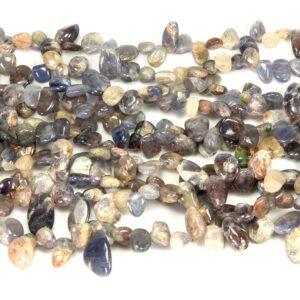 Iolite drops purple white approx. 6 x 12 mm, 1 strand