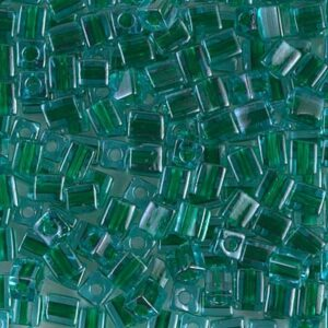Miyuki Würfel SB-2643 emerald lined aqua 5g
