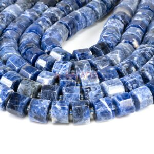 Sodalite wheels faceted approx. 8 x 13 mm, 1 strand