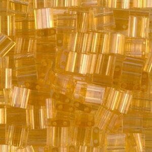 Miyuki Tila beads TL-132 transparent light topaz 5g