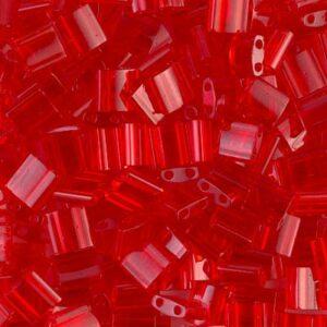 Perles Miyuki Tila TL-140 transparent rouge orange 5g