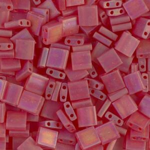 Miyuki Tila Perlen TL-140FR matte transparent red orange AB 5g