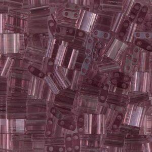 Perles Miyuki Tila TL-142 améthyste fumée transparente 5g