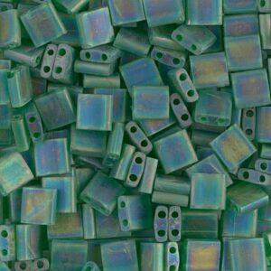 Miyuki Tila Perlen TL-146FR matte transparent green AB 5g