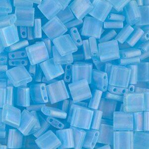 Miyuki Tila perles TL-148FR mat transparent aqua AB 5g