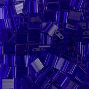 Miyuki Tila Perlen TL-151 transparent cobalt 5g