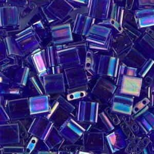 Miyuki Tila Perlen TL-177 transparent cobalt AB 5g