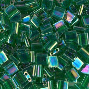 Miyuki Tila Perlen TL-179 transparent green AB 5g