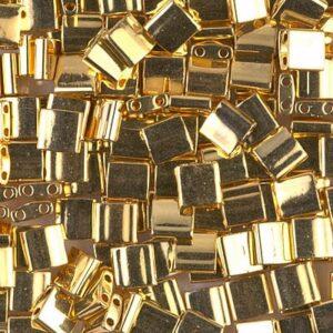 Perles Miyuki Tila TL-191 plaquées or 24 carats 5g