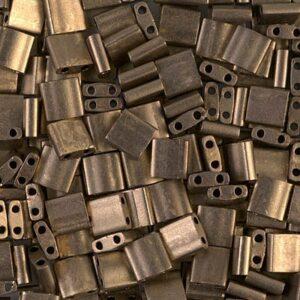 Miyuki Tila Perlen TL-2006 matte metallic dark bronze 5g