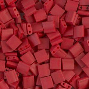 Miyuki Tila Perlen TL-2040 matte metallic brick red 5g