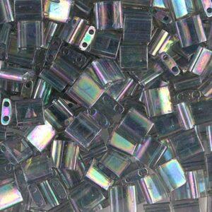 Perles Miyuki Tila TL-2440D lustre arc-en-ciel gris transparent foncé 5g