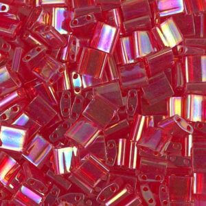 Miyuki Tila Perlen TL-254 transparent red AB 5g
