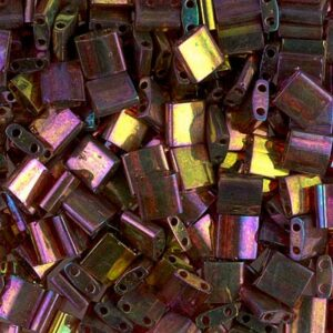 Miyuki Tila Perlen TL-301 dark topaz rainbow gold luster 5g