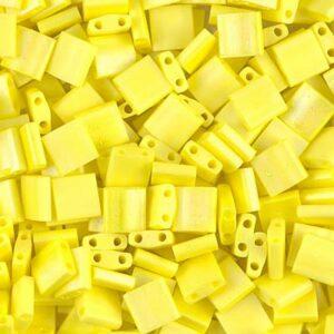 Miyuki Tila Perlen TL-404FR matte opaque yellow AB 5g