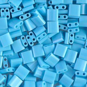 Miyuki Tila Perlen TL-413 opaque turquoise blue 5g